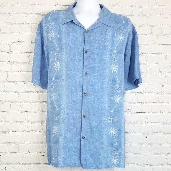 0b8fd5c0 Island Shores Shirts | Blue Short Sleeve Button Down Xxl | Poshmark